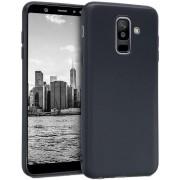 Protectie spate Senno Pure Flex Slim Mate TPU pentru Samsung Galaxy A6 Plus (Negru)