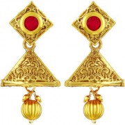 Asmitta Excellent Square Shape Dangle Jhumki Gold Plated Earring For Women