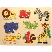 Baby Mix Puzzle din lemn 10m+ Safari