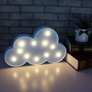 Karácsonyi elemes LED lámpa kék felhő meleg fehér 29 cm