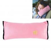 2 PC's kinderen Baby veiligheid riem zacht hoofdsteun Support kussen schouder nekkussen voor auto veiligheid Seatbelt(Pink)