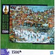 """Big Ben 1500 Piece """"Ice Skating"""" Puzzle"""