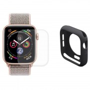 Conjunto de Protecção Hat Prince para Apple Watch Series 4 - 44mm - Preto