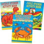 Sticker Books - 6 sticker activity books. Sealife, animal & dinosaur themes. Includes stickers, colouring, dot-to-dots. Size 145mm x 105mm.