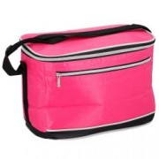 Geanta termoizolanta geanta frigorifica pentru pastrare transport alimente cu buzunar frontal 31 x 21 x 16 cm 8 L roz