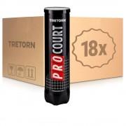 Tretorn Pro Court 18 Tubes De 4 En Carton
