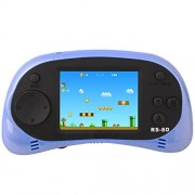 "ZHISHAN Kids Handheld Game Console Classic Retro Video Gaming Player Birthday Gift for Children 2.5""LCD Built-in 260 8 Bit Games (Blue)"
