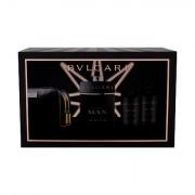 Bvlgari Man In Black confezione regalo Eau de Parfum 100 ml + 75 ml balsamo dopobarba+ 75 ml doccia gel + borsa per cosmetici Uomo