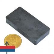 Magnet ferită bloc 60 x 30 x 10 mm