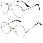 kingsunglasses Round, Aviator Sunglasses(Clear)