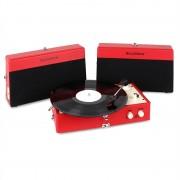 Ricatech RT80 Vintage Gira-discos Vermelho AUX