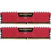 DDR4, KIT 16GB, 2x8GB, 3600MHz, Corsair Vengeance™ LPX Red, CL18 (CMK16GX4M2B3600C18R)
