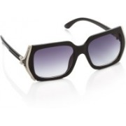 Gio Collection Rectangular Sunglasses(Violet)