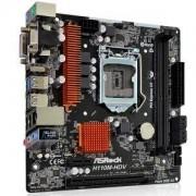 Дънна платка ASROCK Main Board Desktop H110 (S1151, 2xDDR4,1xPCI E 3.0 x16,2xPCI E 2.0x1, SATA III ,GLAN,DVD-D,HDMI,VGA, USB3.0), H110M-HDV_R3.0_3Y