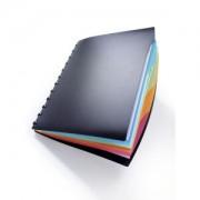 DURABLE · Hunke und Jochheim GmbH & Co. KG DURABLE Duralook® Style Präsentationsmappe, DIN A4, Sichtbuch mit integriertem, 4-teiligen Register mit farbigem Ablauf, Farbe: schwarz