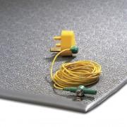 Anti-Ermüdungsmatte, ableitend mit Erdungskabel, PVC grau LxB 1500 x 900 mm