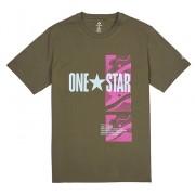 Converse Tricou pentru bărbați Converse One Star Photo Short Sleeve Tee Field Surplus L