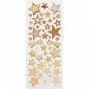 Merkloos Gouden sterren stickers 52 stuks