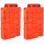2pcs Clips De Bala Suaves 5 Balas Para Nerf N-strike Pistola Juguete - Naranja Transparente