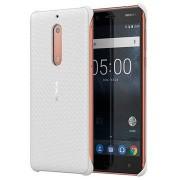 Nokia 5 Carbon Fibre Design Cover CC-803 - Parel Wit