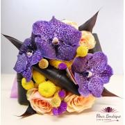 "Buchet flori ""Purple Vanda"""