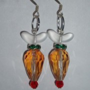 Christmas Rudolph Red Nose Earrings Swarovski Crystal