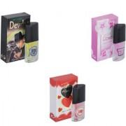 Skyedventures Set of 3 Devdas-Rose-Younge Heart Red Perfume