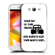 Husa Samsung Galaxy Grand Neo i9060 i9080 i9082 Silicon Gel Tpu Model Never Rat On Your Friends B&W