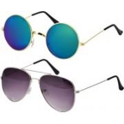 Freny Exim Aviator Sunglasses(Multicolor, Violet)
