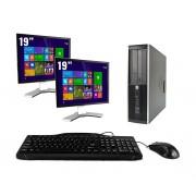HP Pro 6200 SFF - Intel Core i7 - 4GB - 500GB HDD + Dual 2x 17'' LCD