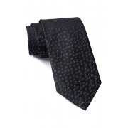 Calvin Klein Allover Tossed Logo Silk Tie BLACK