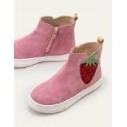 Mini Rosa Originelle Veloursleder-Boots Mädchen Boden, 32, Pink