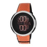 【48%OFF】デュアルタイム デジタルウォッチ ケース:ブラック ベルト:オレンジ ファッション > 腕時計~~メンズ 腕時計
