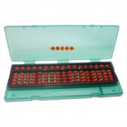 Abica Abacus math learning kit for kids Brown 17 Rod with box ( pack of 1 )
