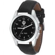 Imperial Club Round Dial Black Leather Strap Men Quartz Watch