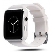 X6 BLUETOOTH SMART WATCH WITH SIM CARD SUPPORT FOR HIGH QUALITY CALLING AND WHATSAPP TOUCH SCREEN (WHITE)