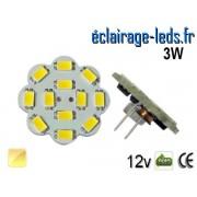 Ampoule Led G4 Flower 12 Led SMD 5630 Blanc Chaud 12v