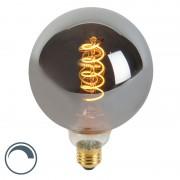 Calex Żarówka LED E27 G125 4W 100lm 2100K ściemnialna filament