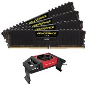 Corsair vengeance Lpx 8Gb x 4 kit Ddr4-4133 1.35V CL19 288pin Memory with blacK low-profile heatsink + memory cooler