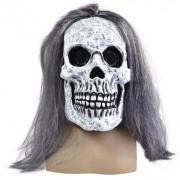 Masca horror schelet cu par