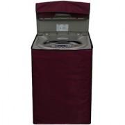 Glassiano Mehroon Waterproof Dustproof Washing Machine Cover for LG T8567TEELK fully automatic 7.5 kg washing machine