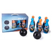 Mattel Hot-Wheels Bowling set packed in Box carry case for Children of age 3 to 8 years | Premium Quality | Certified Safe as per European Safety Standards (EN71) | Sports development toys for Kids | Multi Color | Includes 6 pins and 2 balls
