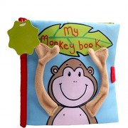 Quiet Book Animals Fish Monkey Branch Soft Cloth Baby Intelligence Development Learn Picture Cognize Book learning resources