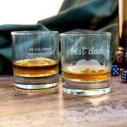 Personalised Engraved whisky glass