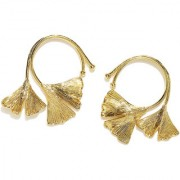 RUBANS Gold Color Floral Studs