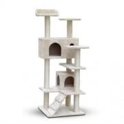 Cat Scratching Post Tree House Condo 134cm - Beige