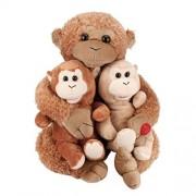 LLguz Cute Duet Songs Chimpanzee Plush Toy Singing Stuffed Animated Animal Kid Doll gifts
