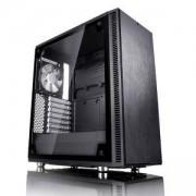 Кутия за компютър Fractal Design Define C TG, 2 x Dynamic X2 GP-12 120 mm, черен, FD-CA-DEF-C-BK-TG