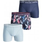 Björn Borg Shorts 3er-Pack Blau Print - Pink XL