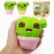 Xinda Squishy Cactus Plant 11cm Soft Slow Rising With Packaging Collection Gift Decor Toy